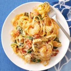 Chicken & Shrimp Fettuccine recipe