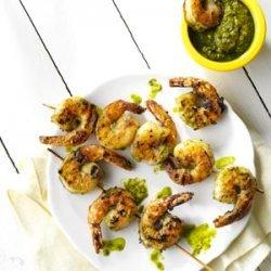 Grilled Pistachio-Lemon Pesto Shrimp recipe
