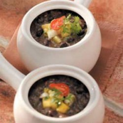 Black Bean Soup with Fruit Salsa recipe
