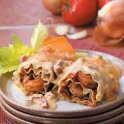 Cajun Shrimp Lasagna Roll-Ups recipe
