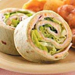 Roasted Vegetable Turkey Pinwheels recipe