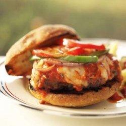 Grilled Italian Meatball Burgers recipe