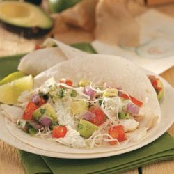 Fish Tacos with Avocado Sauce recipe