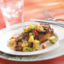 Spicy Chicken Breasts with Pepper Peach Relish for 2 recipe