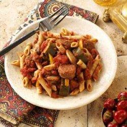 Italian Sausage Marinara with Penne recipe