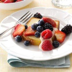 Berries & Cream Bruschetta recipe