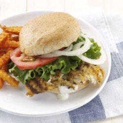 Hearty Breaded Fish Sandwiches recipe