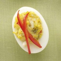 Slim Crab Cake Deviled Eggs recipe