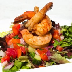 Grilled Gazpacho Salad with Shrimp recipe