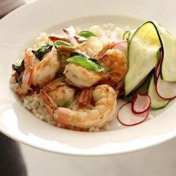 Shrimp Salad with Zucchini and Basil recipe