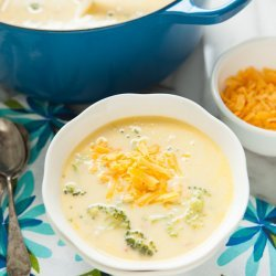 Broccoli Soup with Cheddar Cheese recipe