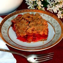 Rhubarb Cherry Crisp recipe