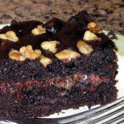 Chocolate Caramel Nut  Cake recipe