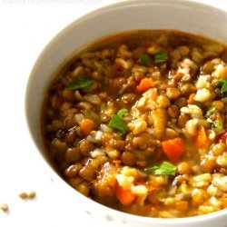 Lentil and Brown Rice Soup recipe