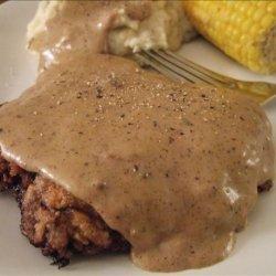 Chicken Fried Steak W/Cream Gravy recipe