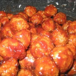 Appetizer Grape Jelly and Chili Sauce Meatballs or  Lil Smokies recipe