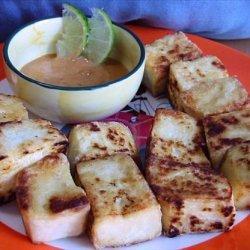 Pan-Fried Tofu with Spicy Peanut Sauce recipe