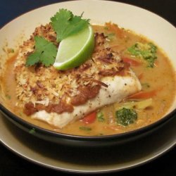 Broiled Tilapia With Thai Coconut- Curry Sauce recipe