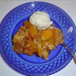 Crock Pot Peach Dump Dessert recipe