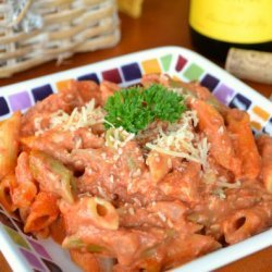 Creamy Pink Vodka Sauce with Penne recipe