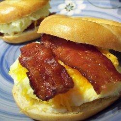 Breakfast Bagel Sandwiches (Oamc) recipe