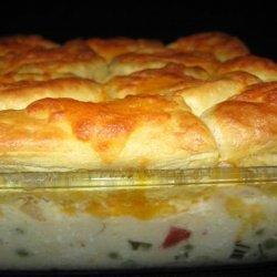 Potsie's Creamed Chicken and Biscuits Casserole recipe