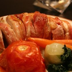 Bacon Wrapped Boursin Stuffed Chicken Breasts - a Deux! recipe