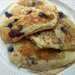 Blueberry Blueberry Sour Cream Pancakes recipe