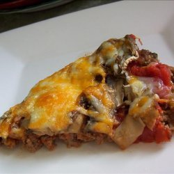 No Dough Meat Crust  Pizza for the Low Carb Dieter recipe