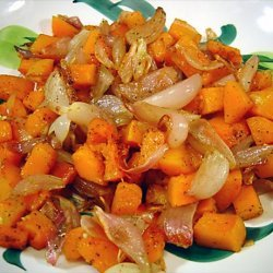 Roasted Butternut Squash and Shallots recipe