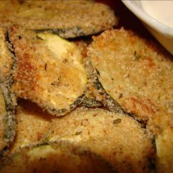 Breaded 'n Baked Zucchini Chips recipe