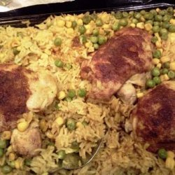 Chicken, Rice, and Spices Bake recipe