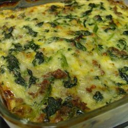Vegetarian Spinach, Cheese and   Sausage  Casserole recipe