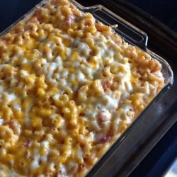 Baked Macaroni and Cheese with Stewed Tomatoes recipe