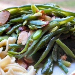 Haricot Vert - French Green Beans With Garlic and Sliced Almonds recipe
