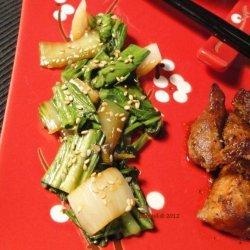Sesame Bok Choy recipe