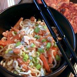 Noodle Salad with Peanut-Lime Vinaigrette recipe