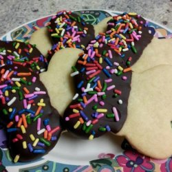 Chocolate Dipped Shortbread Cookies recipe