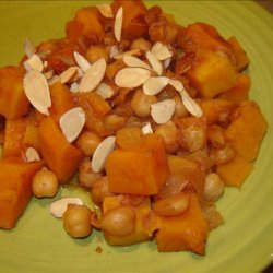 Moroccan Chickpeas and Sweet Potatoes recipe