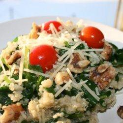 Quinoa Stir Fry With Spinach & Walnuts recipe