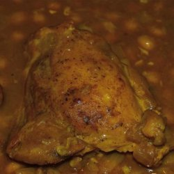 Moroccan Chicken Thighs With Chickpeas and Raisins recipe
