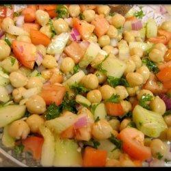 Cucumber and Garbanzo Bean Salad recipe