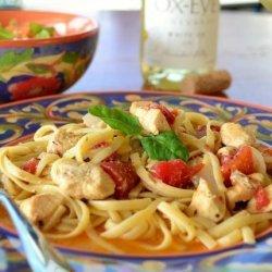Chicken and Pasta in White Wine Garlic Sauce recipe