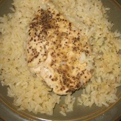 Lemon Pepper Chicken Breasts on a Bed of Rice recipe