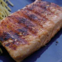 Salmon with Honey and Mustard Glaze recipe