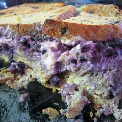 Blueberry Cream Cheese Stuffed Baked French Toast recipe