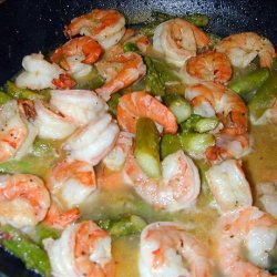 garlic shrimp with asparagus recipe