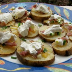 Potato Slices Made Like Potato Skins recipe