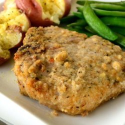 Oven Fried Pork Chops recipe