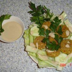 Falafel With Taratoor Sauce recipe